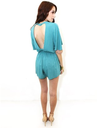 Lovers + Friends Lovers & Friends Romance Romper in Teal