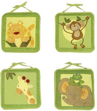NoJo Jungle Babies 4-pc. Wall Hangings Set