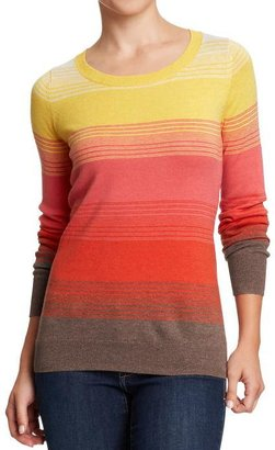 Old Navy Women's Softest Printed-Crew Sweaters