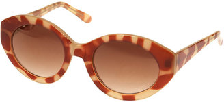 Topshop Tortoiseshell Extreme Cats Eye Sunglasses By Squint