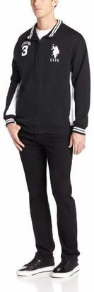 U.S. Polo Assn. Men's Fleece Full Zip Track Jacket