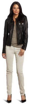 Tommy Hilfiger Women's Washed Leather Jacket