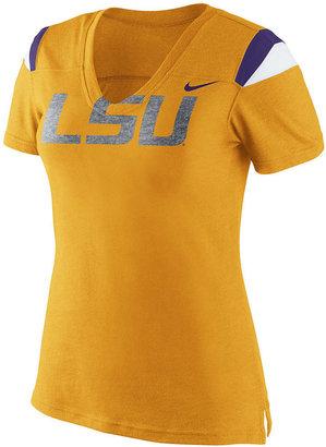 Nike Women's Short-Sleeve LSU Tigers V-Neck T-Shirt