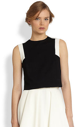 Torn By Ronny Kobo Daisy Two-Tone Cropped Top