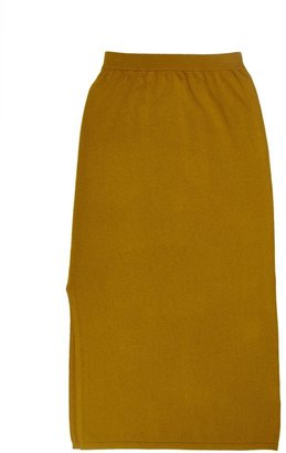 Arela Kelly Cashmere Skirt In Yellow