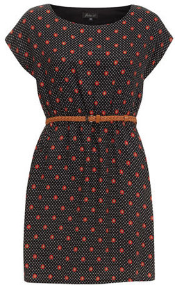 Dorothy Perkins Black dotted print dress