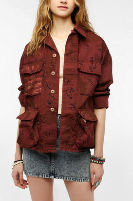 Urban Outfitters Urban Renewal Flag Dyed Military Jacket