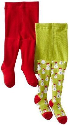 Country Kids Baby Girls' Snowman 2 Pair Tights