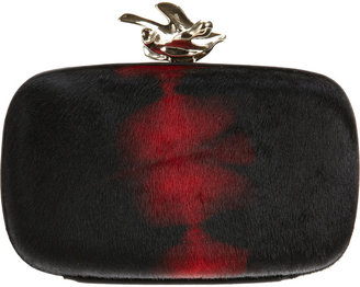 Givenchy Ponyhair Abstract Flower Minaudière