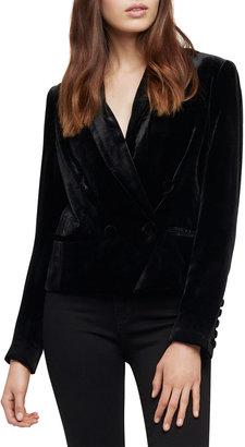 L'Agence Rory Velvet Cropped Blazer