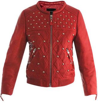 Isabel Marant Bloomen leather bomber jacket