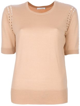 Chloé perforated detail sweater