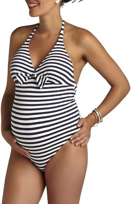 Pez D'or Stripe One-Piece Maternity Swimsuit