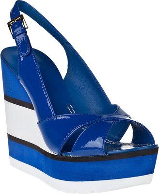 Kate Spade Damara Wedge Sandal Cobalt Patent