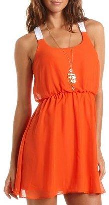 Charlotte Russe Color Block Chiffon A-Line Dress