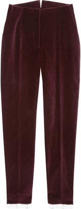 Alexander McQueen Velvet high-rise skinny pants