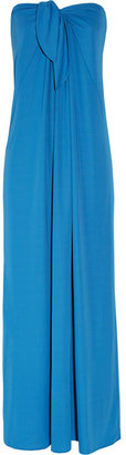 Halston Strapless crepe maxi dress