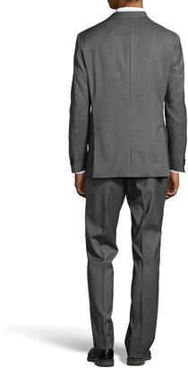 HUGO BOSS James Glen Plaid Stretch Wool Two-Piece Suit, Medium Gray