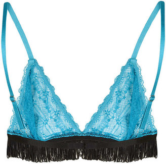 Topshop Fringed Triangle Bra