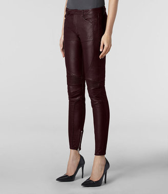 AllSaints Leather Biker Pant