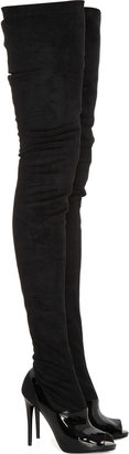 Stella McCartney Deacon faux-leather and patent thigh boots