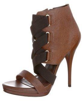 Via Uno Platform Sandals brown