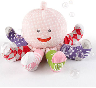 Octopus Mrs. Sock T. Pus Plush Pink with 4 Pairs of Socks