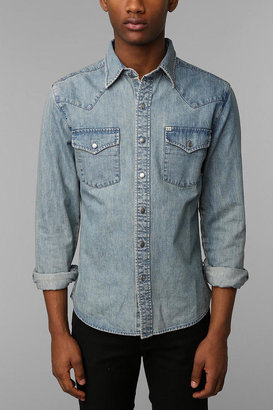 UO Salt Valley Denim Western Shirt