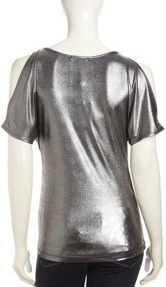 Tart Oasis Cold-Shoulder Top, Silver