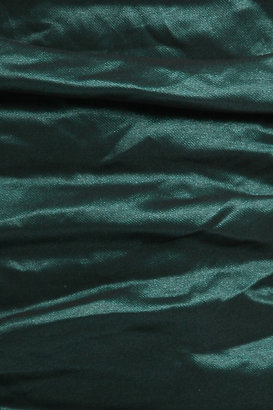 Nicole Miller Ruched Metal Dress in Emerald Green