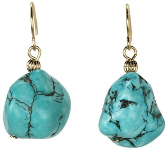 Lauren Ralph Lauren Nugget Drop Earrings (Gold/Multi) - Jewelry
