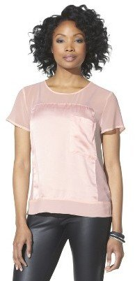 Mossimo Women's Sheer Panel Top - Assorted Colors