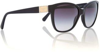 Dolce & Gabbana Black logo plaque sunglasses