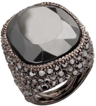 Kenneth Jay Lane Black Dream Cocktail Ring
