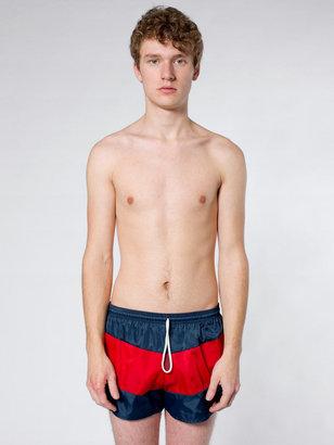 American Apparel Tri-Color Swim Trunk