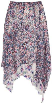 Isabel Marant Omyles Floral-print Silk-georgette Midi Skirt