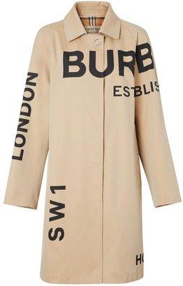 Burberry Horseferry Print Cotton Gabardine Car Coat
