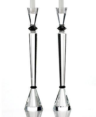 Lighting by Design Candle Holders, Set of 2 Essex Ebony Candlesticks