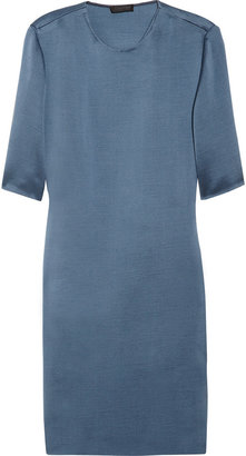 Calvin Klein Collection Washed-shantung dress