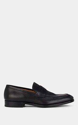 Barneys New York Men's Apron-Toe Penny Loafers - Black