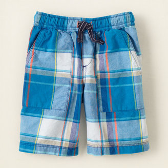 Children's Place Pull-on plaid shorts