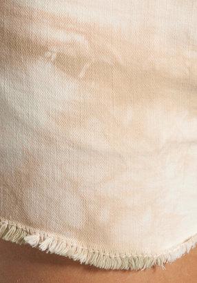 Dakota Collective Lela Raw Edge Short in Tribal Tie-Dye Cream/Taupe
