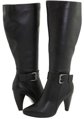Type Z Anna Maria Wide Calf (Black Leather) - Footwear