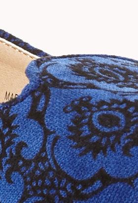 Forever 21 Luxe Velveteen Waverly Print Loafers