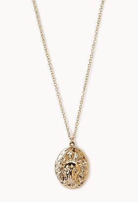 Forever 21 Safari Locket Necklace