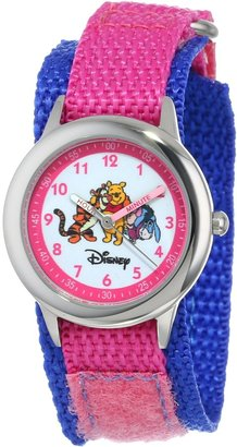 Disney Kids' W000100 Winnie the Pooh & Friends Stainless Steel Time Teacher Watch