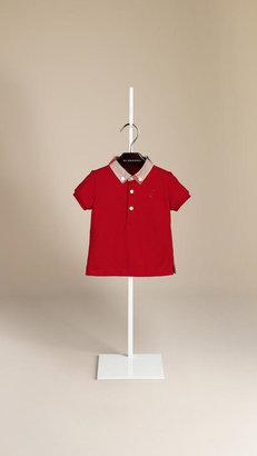 Burberry Check Collar Polo Shirt