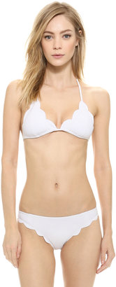Marysia Swim Broadway Scallop Bikini Top $137 thestylecure.com