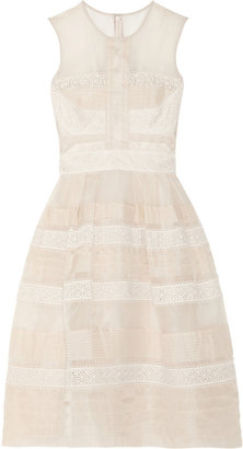 Temperley London Silk-organza and lace dress