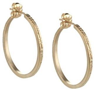 Me & Ro Me&Ro Medium Engraved Hoop Earrings
